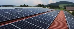 Commercial solar power installation.