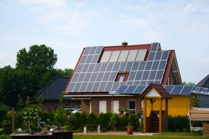 Home With Solar Roof