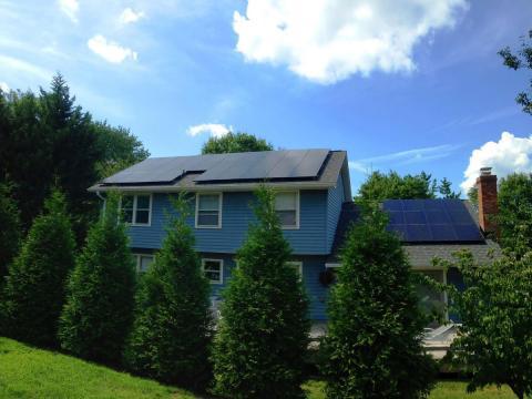 Sleek Black Solar Panels