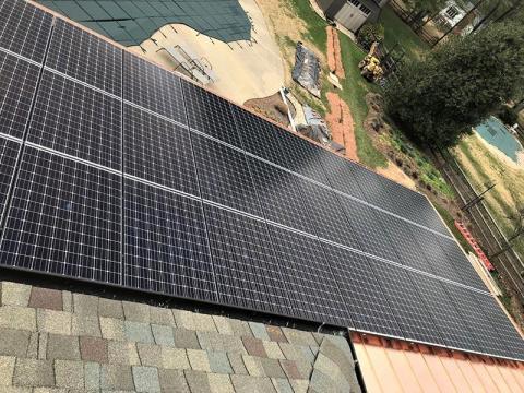 Copper Standing Solar Panels
