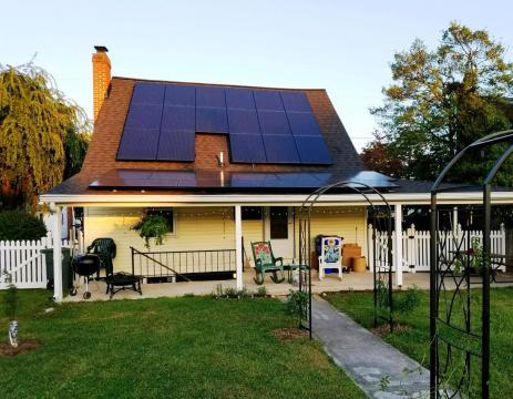Sun Rising Over Frederick County Solar Installation