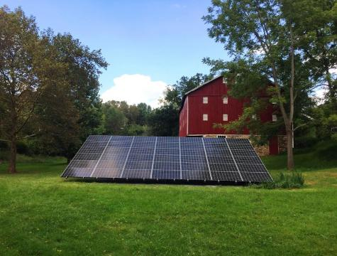 Beautiful Ground Mount Cover 100% of Farm's Energy Needs